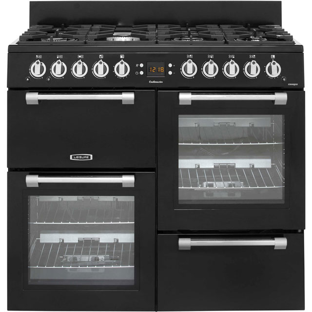 Leisure Cookmaster CK100G232K Gas Range Cooker - Black - CK100G232K_BK - 1