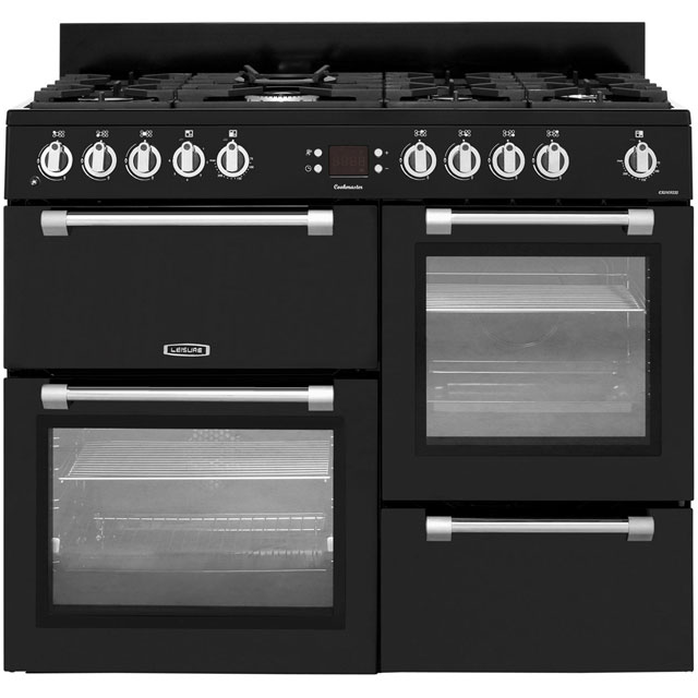 Leisure Cookmaster CK110F232K 110cm Dual Fuel Range Cooker - Black - A Rated - CK110F232K_BK - 1