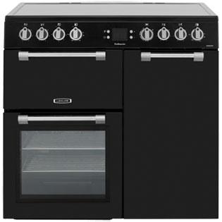Image of Leisure Cookmaster CK90C230K 90cm Electric Range Cooker with Ceramic Hob - Black - A/A Rated