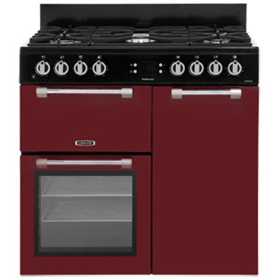 Leisure Cookmaster 90cm Dual Fuel Range Cooker - Red - A/A Rated