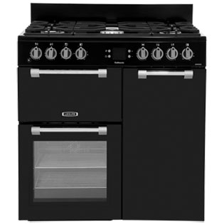 Leisure Cookmaster CK90F232K 90cm Dual Fuel Range Cooker - Black - A/A Rated - CK90F232K_BK - 1