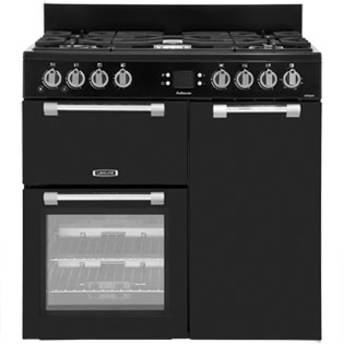 Leisure Cookmaster CK90G232K 90cm Gas Range Cooker with Electric Fan Oven - Black - A+/A Rated - CK90G232K_BK - 1
