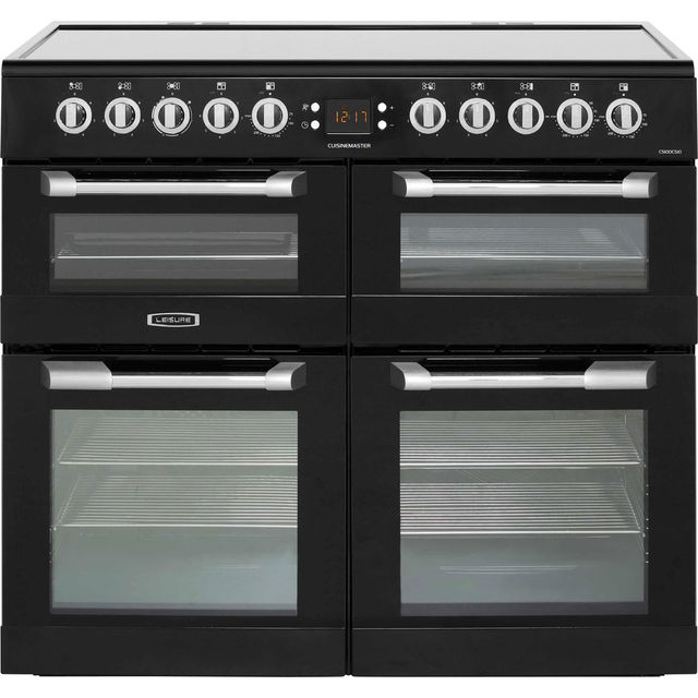 Leisure Cuisinemaster 100cm Electric Range Cooker with Ceramic Hob - Black - A/A/A Rated