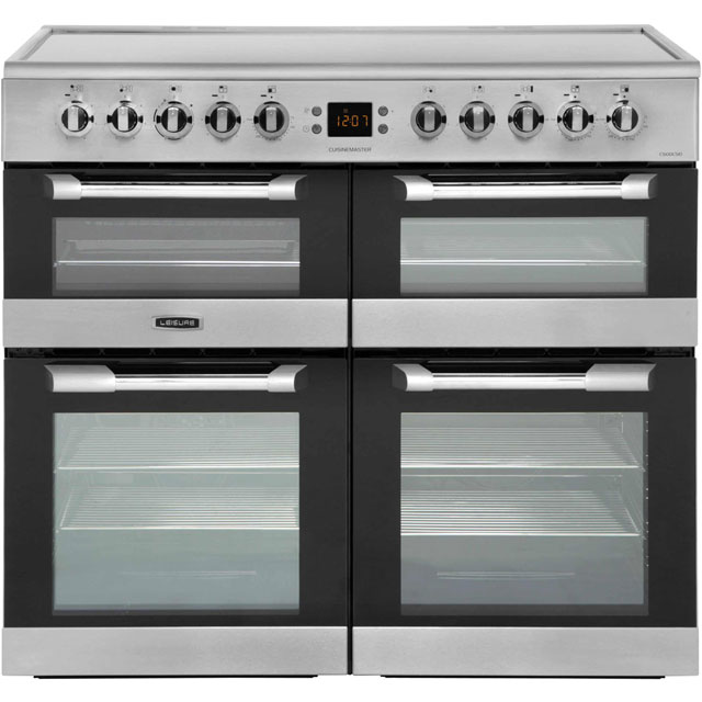 Leisure Cuisinemaster 100cm Electric Range Cooker with Ceramic Hob - Stainless Steel - A/A/A Rated