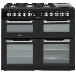 Leisure Cuisinemaster 100cm Dual Fuel Range Cooker - Black - A Rated