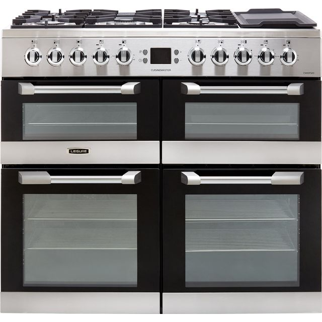 Leisure Cuisinemaster CS100F520X 100cm Dual Fuel Range Cooker - Stainless Steel - A/A/A Rated - CS100F520X_SS - 1