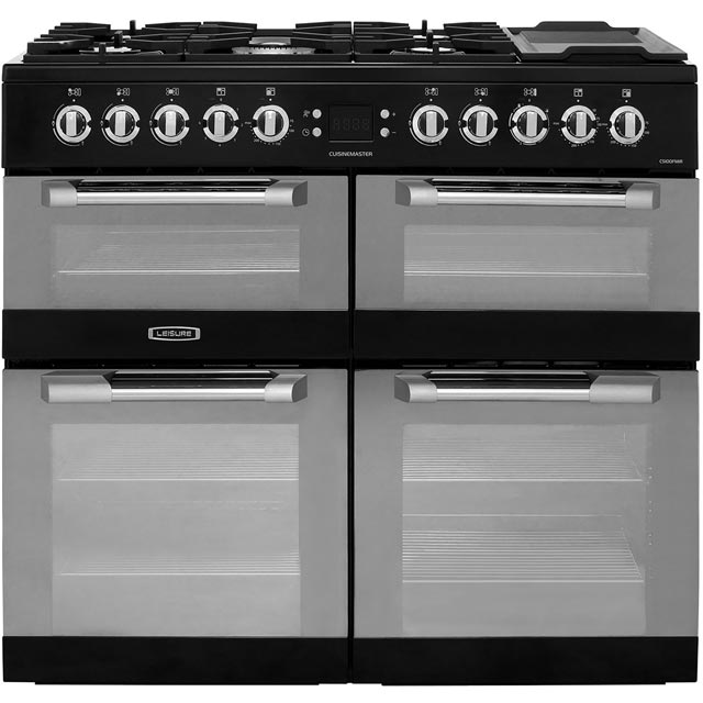 Leisure CS100FMIRK Cuisinemaster 100cm Dual Fuel Range Cooker - Black - CS100FMIRK_BK - 1