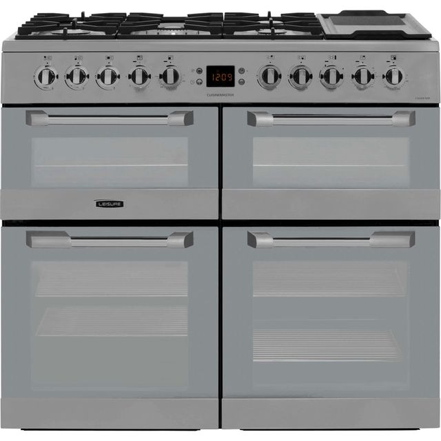 Leisure Cuisinemaster CS100FMIRX 100cm Dual Fuel Range Cooker - Stainless Steel - A/A Rated - CS100FMIRX_SS - 1