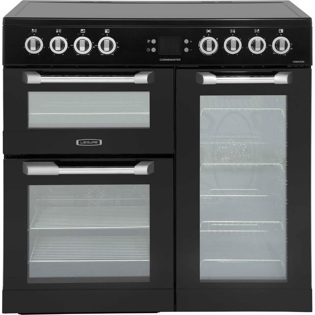 Leisure Cuisinemaster CS90C530K 90cm Electric Range Cooker with Ceramic Hob - Black - A/A/A Rated - CS90C530K_BK - 1