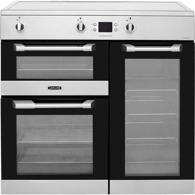 Leisure 90cm Electric Range Cooker with Induction Hob - Stainless Steel - A Rated