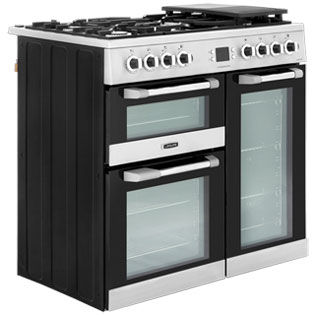 Leisure CS90F530X Cuisinemaster 90cm Dual Fuel Range Cooker - Stainless Steel - CS90F530X_SS - 4