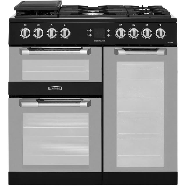 Leisure CS90FMIRK 90cm Dual Fuel Range Cooker - Black - A Rated - CS90FMIRK_BK - 1