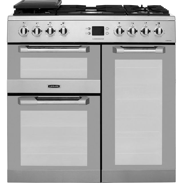 Leisure CS90FMIRX 90cm Dual Fuel Range Cooker - Stainless Steel - A/A Rated - CS90FMIRX_SS - 1
