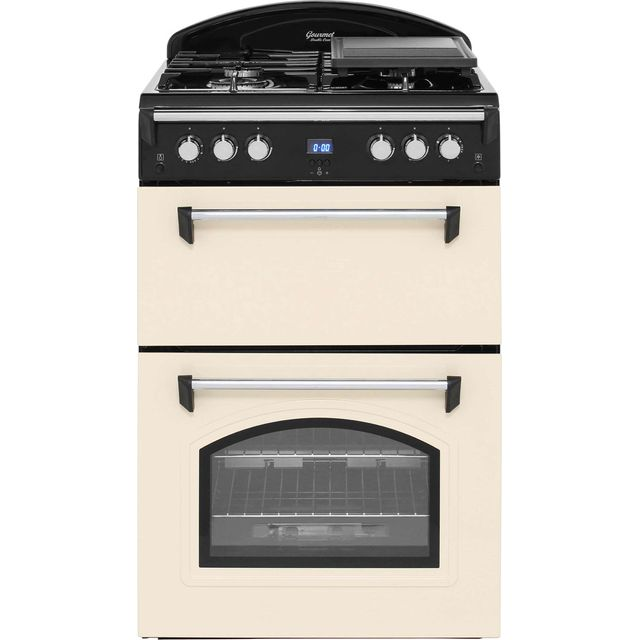 Leisure Gourmet GRB6GVC 60cm Gas Cooker with Full Width Gas Grill - Cream - A+/A Rated - GRB6GVC_CR - 1
