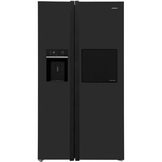 Leisure Patricia Urquiola PAS241MB Free Standing American Fridge Freezer in Black