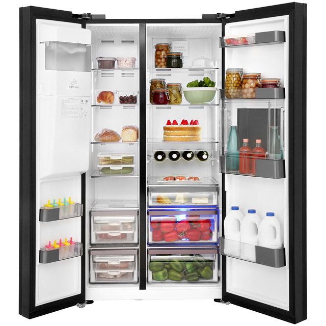 Leisure Patricia Urquiola PAS241MB American Fridge Freezer - Black - PAS241MB_BK - 3