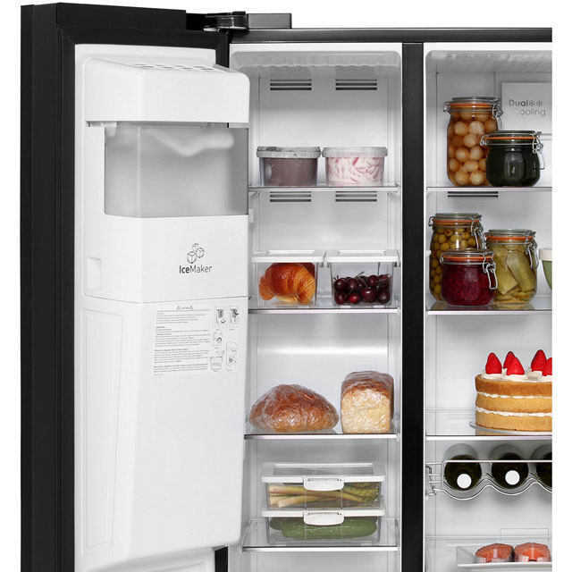 Leisure Patricia Urquiola PAS241MB American Fridge Freezer - Black - PAS241MB_BK - 4
