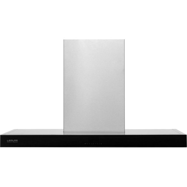 Leisure Patricia Urquiola PCWB9752BP 90 cm Chimney Cooker Hood - Black / Stainless Steel - A Rated