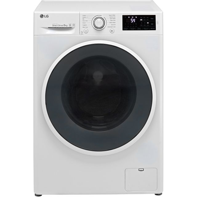 LG F4J608WN 8Kg Washing Machine with 1400 rpm - White - A+++ Rated - F4J608WN_WH - 1