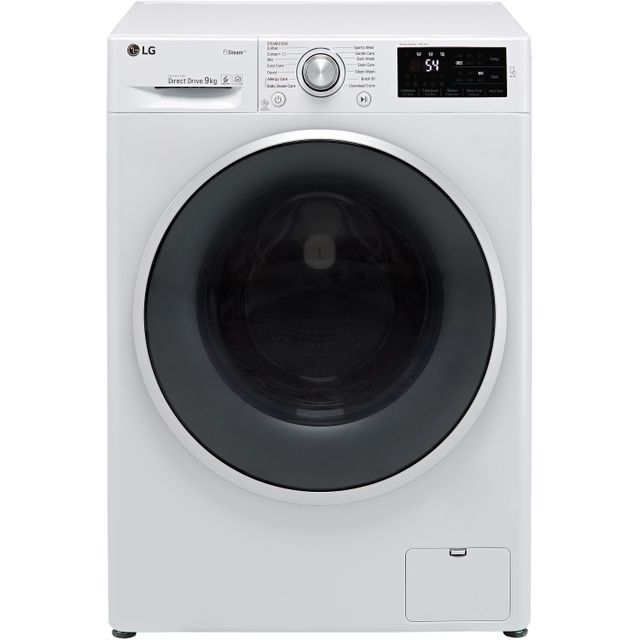 LG J6 F4J609WS 9Kg Washing Machine with 1400 rpm - White - A+++ Rated - F4J609WS_WH - 1