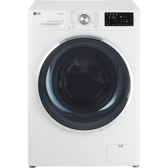 LG Steam™ F4J6VY2W 9Kg Washing Machine with 1400 rpm - White - A+++ Rated - F4J6VY2W_WH - 1