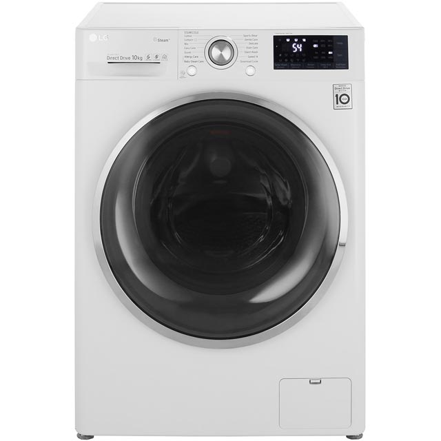 LG Steam™ F4J7JY2W Wifi Connected 10Kg Washing Machine with 1400 rpm - White - A+++ Rated - F4J7JY2W_WH - 1