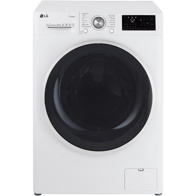 LG Steam™ F4J7VY2WD Wifi Connected 9Kg Washing Machine with 1400 rpm - White - A+++ Rated - F4J7VY2WD_WH - 1