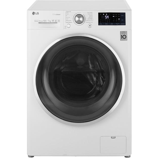 LG Eco Hybrid™ With TrueSteam™ F4J8JH2W Wifi Connected 10.5Kg / 7Kg Washer Dryer with 1400 rpm - A Rated