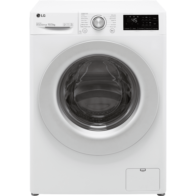 LG V3 F4V310WSE 10.5Kg Washing Machine with 1400 rpm - White - B Rated