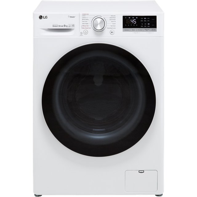 LG V5 F4V509WS Wifi Connected 9Kg Washing Machine with 1400 rpm - White - A+++ Rated - F4V509WS_WH - 1