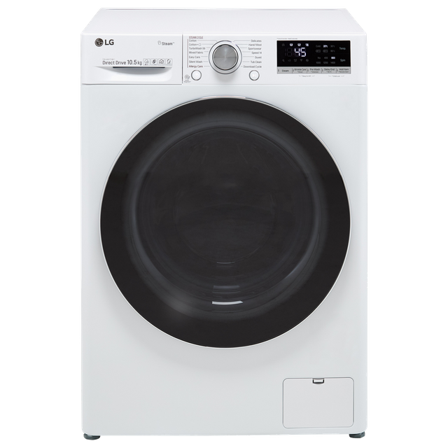 LG V7 F4V710WTS Wifi Connected 10.5Kg Washing Machine with 1400 rpm - White - A+++ Rated - F4V710WTS_WH - 1