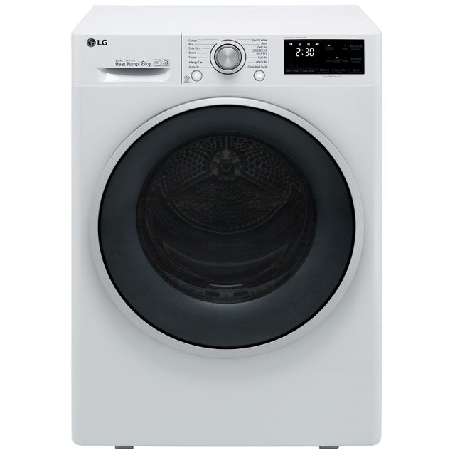 LG J6 FDJ608W Wifi Connected 8Kg Heat Pump Tumble Dryer - White - A+++ Rated - FDJ608W_WH - 1