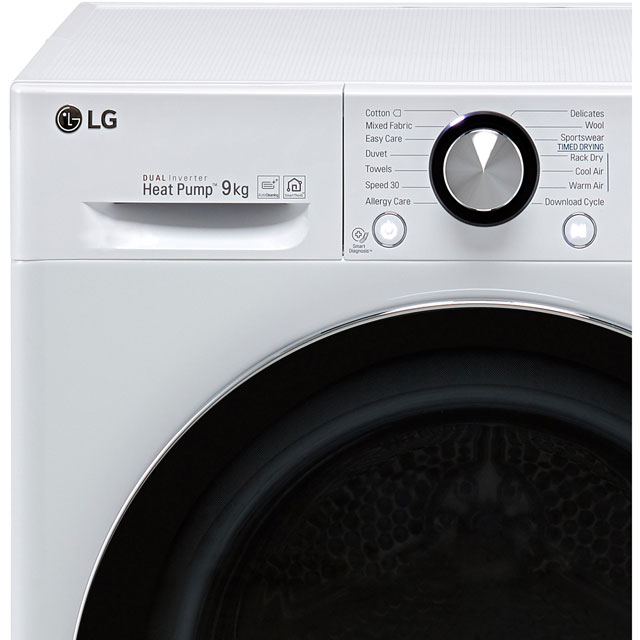 LG V9 FDV909S Heat Pump Tumble Dryer - Silver - FDV909S_SI - 2