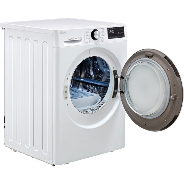 LG V9 FDV909S Heat Pump Tumble Dryer - Silver - FDV909S_SI - 4