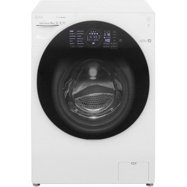 LG TrueSteam™ FH4G1JCS2 Wifi Connected 10Kg Washing Machine with 1400 rpm - White - A+++ Rated