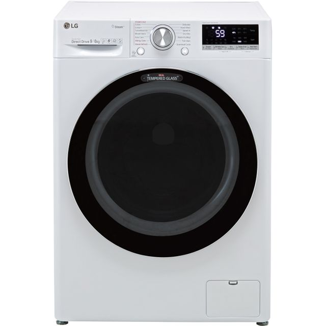 LG V7 FWV796WTS Wifi Connected 9Kg / 6Kg Washer Dryer with 1400 rpm - White - A Rated - FWV796WTS_WH - 1