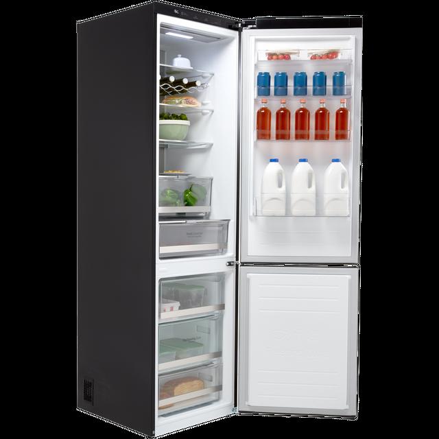 LG Centum™ GBB92MCBKP 70/30 Frost Free Fridge Freezer - Matte Black - A+++  Rated