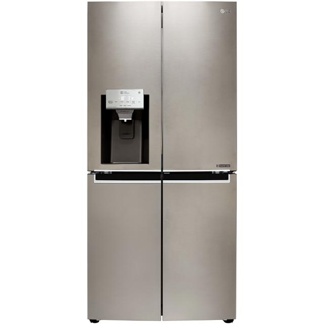 LG Door-in-Door™ GMJ844PZKV Wifi Connected American Fridge Freezer - Steel - A+ Rated - GMJ844PZKV_ST - 1