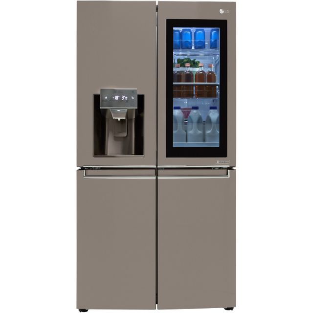 LG InstaView™ Door-in-Door™ GMX936SBHV American Fridge Freezer - Black Steel - GMX936SBHV_BST - 1