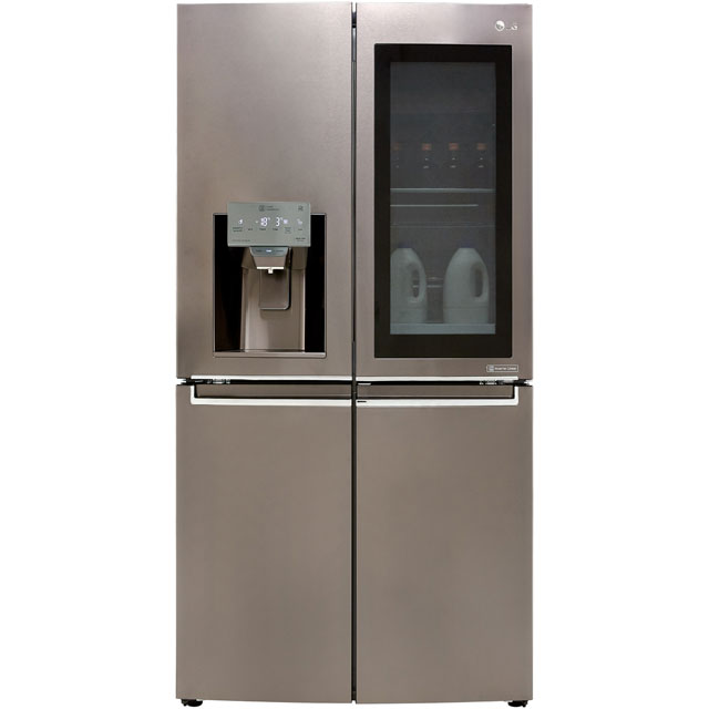 LG InstaView™ Door-in-Door™ GMX936SBHV Wifi Connected American Fridge Freezer - Black Steel - A+ Rated Best Price, Cheapest Prices
