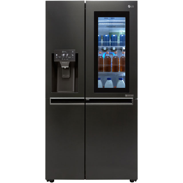 LG InstaView™ Door-in-Door™ GSX960MCVZ Wifi Connected American Fridge Freezer - Matte Black - A++ Rated - GSX960MCVZ_MBK - 1