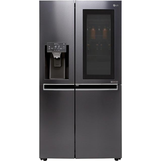 LG InstaView™ Door-in-Door™ GSX960MTAZ Wifi Connected American Fridge Freezer - Matt Black - A++ Rated Best Price, Cheapest Prices