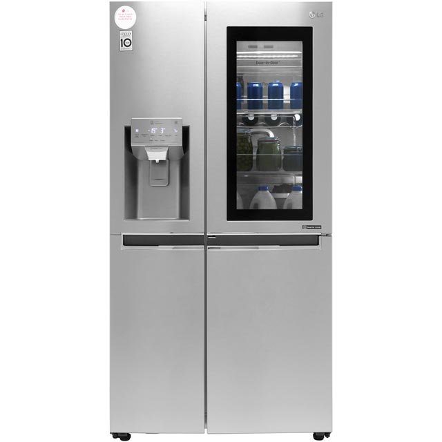 LG InstaView™ Door-in-Door™ GSX960NSAZ Wifi Connected American Fridge Freezer - Stainless Steel - A++ Rated