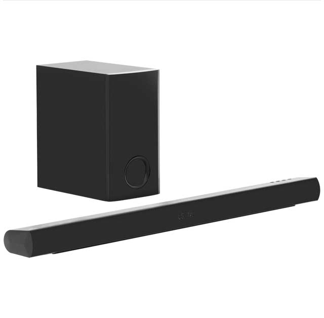 LG LAS355B Bluetooth Soundbar with Wired Subwoofer - Black