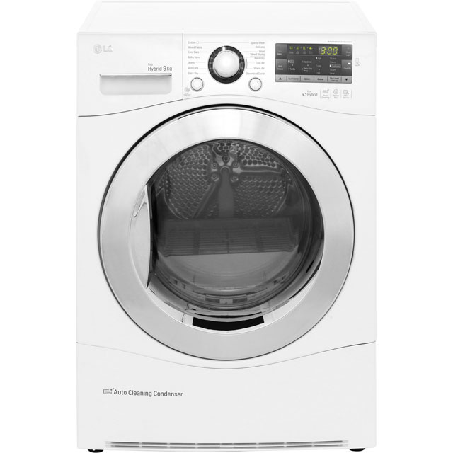 LG Eco Hybrid™ RC9055AP2F 9Kg Heat Pump Tumble Dryer - White - A++ Rated Best Price, Cheapest Prices
