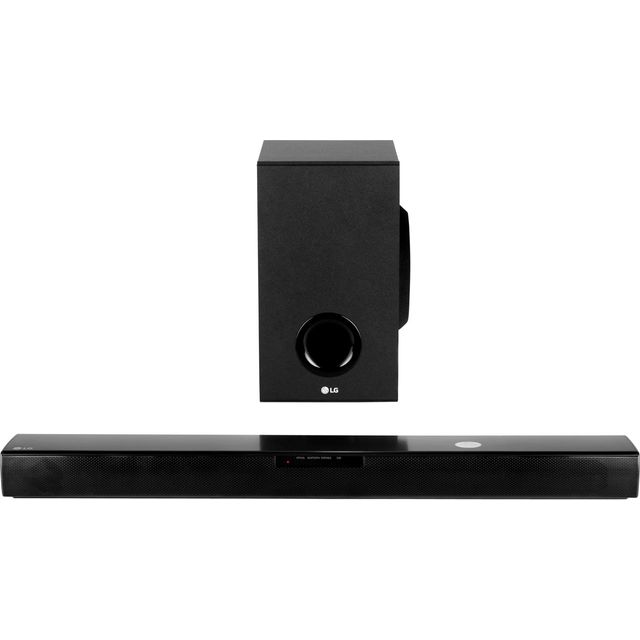 LG SJ2 Bluetooth Soundbar with Wireless Subwoofer - Black - SJ2 - 1