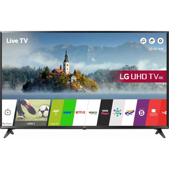LG 49UJ630V Led Tv in Black