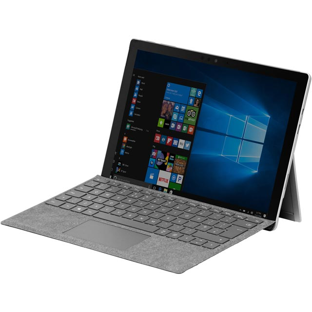 """Microsoft Surface Pro 6 12.3"""" 2-in-1 Laptop Includes Platinum Keyboard Cover [2018] - Silver"""