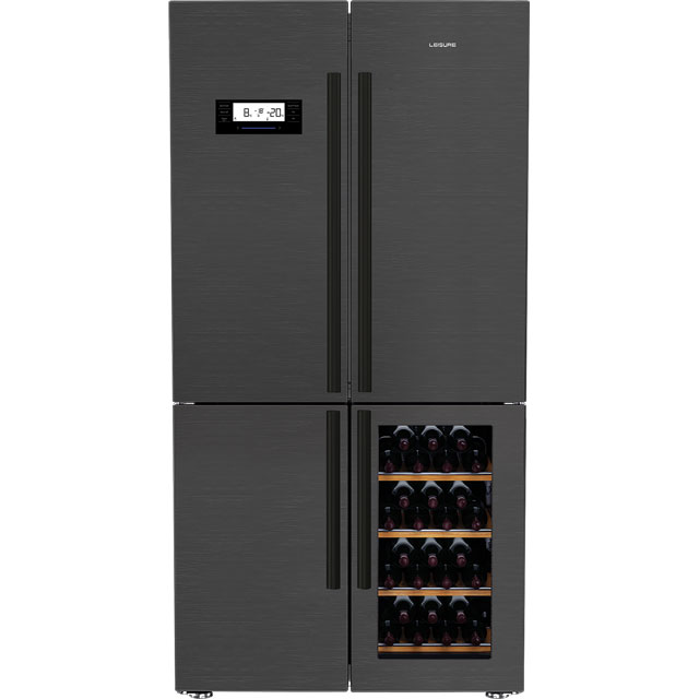 Leisure LM16251WZ Free Standing American Fridge Freezer in Dark Steel