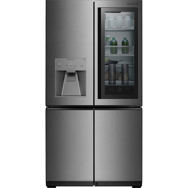 LG Signature InstaView Door-in-Door™ LSR100 Wifi Connected American Fridge Freezer - Stainless Steel - A++ Rated - LSR100_SS - 1
